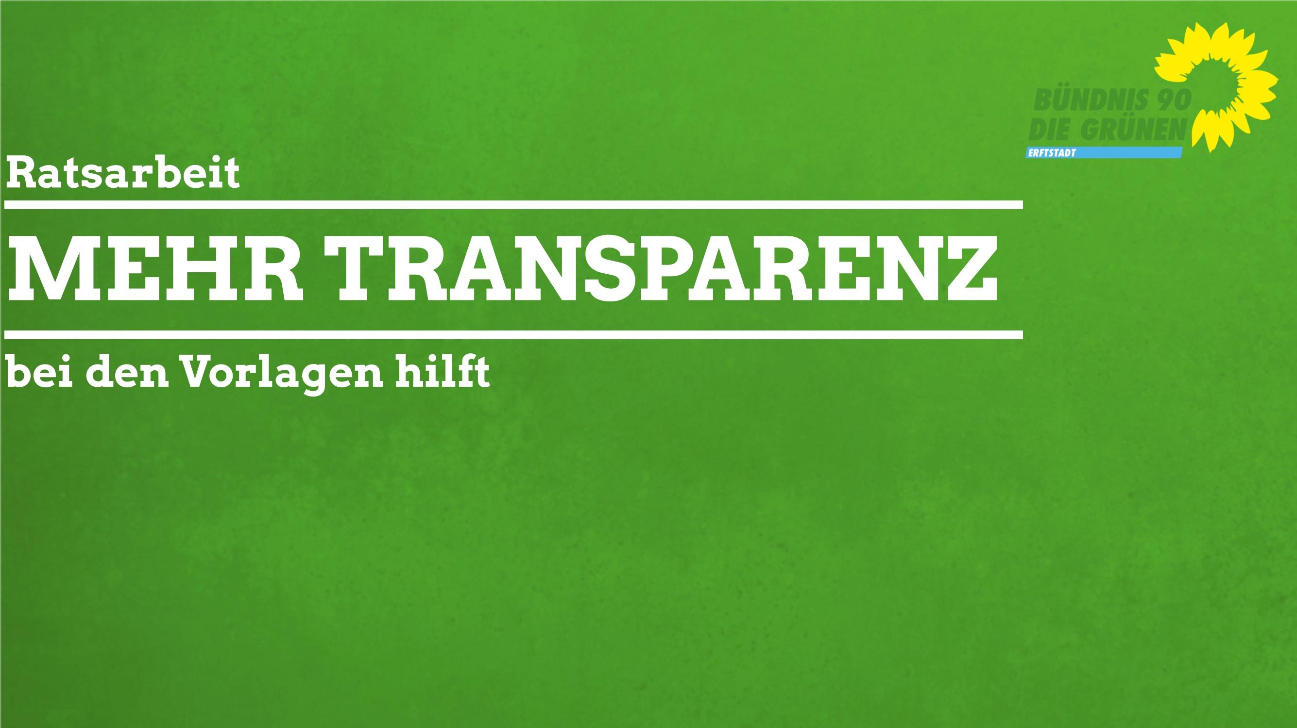 Erhöhung der Transparenz